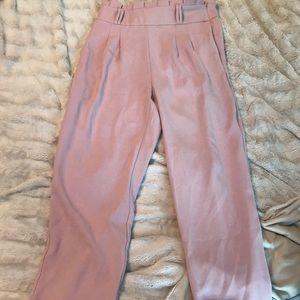Pants - High waisted pink dress pants